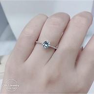 Nhẫn bạc QMJ Kiêu sa đơn giản ổ đá 4 chấu - bạc 925 cao cấp, nhẫn nữ thời trang đẹp, bản mỏng, thanh lịch - Q460 thumbnail