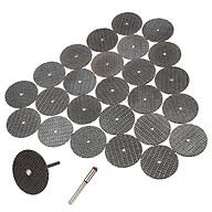 50 đĩa cắt dây gai 32mm kèm 2 trục gắn 3ly và 2 trục 2ly - dĩa đá cắt kim loại mini dùng cho tất cả các lại máy mài khắc trên thị trường thumbnail