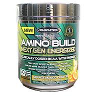 BCAA Amino Build Next gen hương Orange Mango Cooler (Cam Xoài) của Muscle Tech hộp 30 lần dùng hỗ trợ phục hồi cơ, chống dị hóa cơ, tăng sức bền sức mạnh vượt trội, đốt mỡ, giảm cân, giảm mỡ bụng mạnh mẽ cho người tập thể thao thumbnail