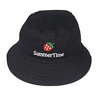 Nón bucket nam nữ thời trang thêu chữ Summer Time & Hình quả dâu tây đẹp mắt, dễ thương thumbnail