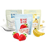 Combo 3 gói sữa chua hoa quả sấy lạnh Bebedang - Vị dâu,chuối,sữa chua thumbnail