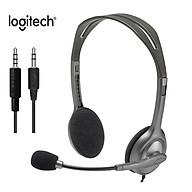 Tai nghe âm thanh nổi chơi game văn phòng H110 của Logitech với Micrô 3,5 mm Nhạc có dây Gọi cho Máy tính xách tay để bàn thumbnail