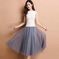 Váy dài công chúa mặc kết hợp ngoài đồ bơi AngelHoney - màu xám F thumbnail