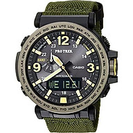 Casio Men s PRO TREK Quartz Resin and Cloth Casual Watch, Color Green (Model PRG-600YB-3CR) thumbnail