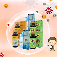 Combo tăng đề kháng cho bé Xịt mũi GreenSix, Vitamin tổng hợp Focus Children, Siro ho SkipCought thumbnail