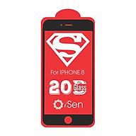 Kính cường lực cho IPhone 7, IPhone 8 20D full màn hình siêu cứng ISEN KC20 - Hàng chính hãng thumbnail