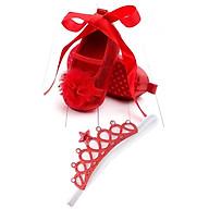 Combo Giày tập đi + băng đô vương miện công chúa cho bé gái từ 6 - 12 tháng tuổi thumbnail