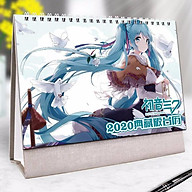 Lịch để bàn Miku Hatsune 2020 in ảnh đẹp anime chibi idols tặng ảnh thiết kế Vcone thumbnail