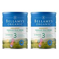 2 Lon Sữa Bột Bellamy s Organic Số 3 (900g) thumbnail