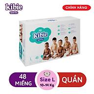 Tã Bỉm Quần Kibie L48 (48 Miếng) - Bao Bì Mới thumbnail