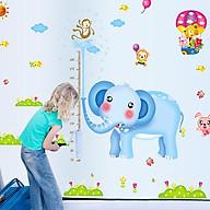 Decal dán tường trang trí phòng cho lớp mầm non- Thước đo voi xanh ngộ nghĩnh- mã sp DAY232AB thumbnail