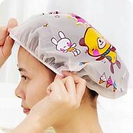 Mũ nilon trùm đầu khi tắm, làm tóc, hình thú ngộ ngĩnh ( Màu ngẫu nhiên ) thumbnail
