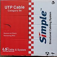 Cáp mạng LS Cat5e (305m 1 thùng) thumbnail
