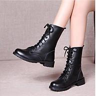 Giày boot nữ cao cổ phong cách ulzzang đế cao 2cm B140 thumbnail