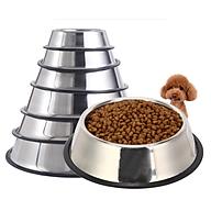 Chén đựng thức ăn cho chó mèo bằng inox, bát đựng thức ăn cho chó mèo Nhà Vin. thumbnail