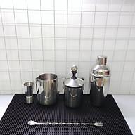 Combo 6 dụng cụ pha chế Inox quầy cà phê, barista (Shaker inox 500ml) thumbnail