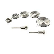 đĩa cắt răng - lưỡi cưa gỗ nhựa meca mini(5 đĩa cắt + 2 trục 3ly) thumbnail