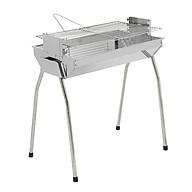 Bếp nướng than hoa VCM thay đổi chiều cao vỉ, Bếp nướng than hoa không khói, nướng ngoài trời, lò nướng than inox thumbnail