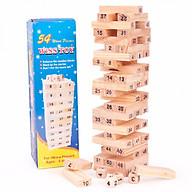 Boardgame rút gỗ số Jenga 54 thanh loại to 18cm thumbnail
