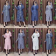 Áo váy chống nắng toàn thân hai mặt cotton thô, áo kèm khẩu tiện dụng thumbnail