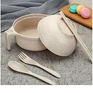 Bộ Ca Nấu Mỳ Lúa Mạch Có Nắp Muỗng Đũa (Giao Màu Ngẫu Nhiên) thumbnail