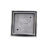 Phễu thoát sàn đặt gạch đúc GL SUS304 100x100mm 60, chống hôi thumbnail