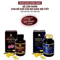 Bộ sản phẩm nhập khẩu chính hãng giúp bổ sung cân bằng nội tiết tố nữ gồm viên uống bổ sung nội tiết tố nữ HYPER EVENING PRIMROSE OIL (90 viên) và viên omega 3 dầu cá hồi OMEGA 3 SALMON OIL (90 viên) thumbnail