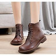Giày Boot Nữ Cổ Cao Da Bò Sang Trọng NineRed thumbnail