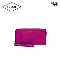 Ví cầm tay nữ khoá kéo thời trang Fossil Jori Zip SWL2371508 - màu hồng đậm thumbnail