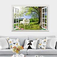 Tranh decal dán tường, giấy dán tường 3D trang trí nhà cửa phòng khách,phòng ăn ,phòng ngủ hạnh phúc lứa đôi thumbnail