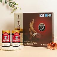 Cao hồng sâm linh chi Hàn Quốc (Chiết xuất sâm linh chi) - chiết xuất từ nhân sâm Hàn Quốc 6 năm tuổi và nấm linh chi, tăng cường sinh lực, phục hồi sức khỏe, tốt cho người mỡ máu, tiểu đường, huyết áp, dạ dày, chống lão hóa thumbnail