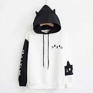 áo hoodie nỉ mèo xinh độc đáo thumbnail