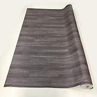 Thảm nhựa simili trải sàn vân gỗ màu nâu đậm thumbnail