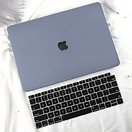 COMBO 3in1 - Case, ốp kèm phủ phím dành cho Macbook - Màu Xám + Phủ Đen [Tặng kèm nút chống bụi Macbook - Màu ngẫu nhiên] - Hàng chính hãng thumbnail