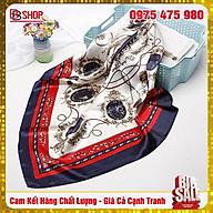 Khăn Lụa Satin Làm Áo Yếm, Quàng Đầu Hottrend Nhiều Họa Tiết 90x90cm thumbnail