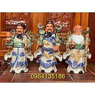 Tượng tam đa Phúc Lộc Thọ men rạn h43cm gốm sứ Bát Tràng thumbnail