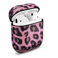 Leopard Pattern Leather Airpods Case - Hàng chính hãng thumbnail