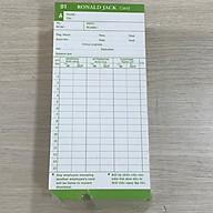 1 Xấp thẻ chấm công dùng cho máy chấm công giấy - Hàng nhập khẩu thumbnail