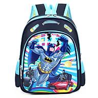Balo mẫu giáo lớp mầm chồi lá in hình siêu nhân người dơi batman E98 thumbnail