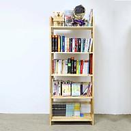 Kệ sách Cao Cấp 5 tầng 40 cm gỗ Cao su lâu năm thumbnail