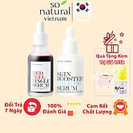 Combo Giảm Ngăn Ngừa Mụn Và Dưỡng Da Red Peel Tingle Serum Và Milk Oil So Natural thumbnail