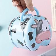 Ống heo tiết kiệm tiền hình con bò sữa, Két sắt mini đựng tiền có khóa siêu yêu, đẹp mắt BB53-KS-BoSua thumbnail