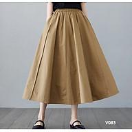 Chân váy dài thô xòe dáng basic kiểu mới lạ cuốn hút phong cách Hàn Quốc. thumbnail