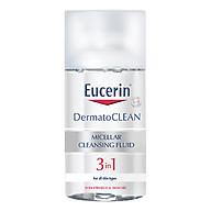 Nước Tẩy Trang Dịu Nhẹ Cho Da Nhạy Cảm Eucerin Dermato Clean Micellar Cleansing Fluid 3 In 1 (125ml) thumbnail