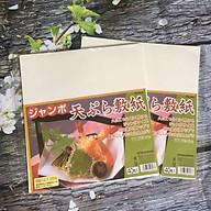 Giấy Thấm Dầu Mỡ Thực Phẩm Nhật Bản (40 Tờ) Tặng Cafe MeetMore thumbnail