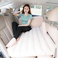 Giường đệm hơi ô tô cao cấp tặng kèm phụ kiện bơm điện (Be-Xám-Đen) thumbnail