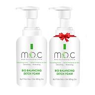 (MUA 1 TẶNG 1) Bọt Thải Độc Cân Bằng Da M.O.C (Detox) - Thanh lọc làn da, giảm & ngăn ngừa mụn tái phát Làm mềm dưỡng ẩm, se khít lỗ chân lông thumbnail