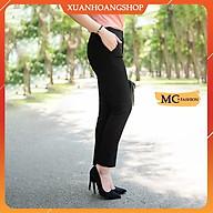 Quần Tây Nữ Lưng Cao Mc Fashion, Kiểu Dáng Quần Âu Công Sở, Ống Côn, 3 Màu Đẹp(Đen, Xanh Tím Than, Ghi Xám) Q0279 thumbnail