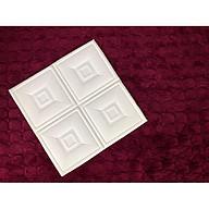 Combo 10 tấm xốp dán tường giả da họa tiết ô vuông kích thước 60cm x 60cm trẻ trung , lãng mạn thumbnail