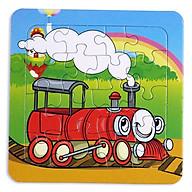 Bộ ghép hình 16 miếng bằng giấy cho bé ( giao màu ngẫu nhiên ) thumbnail